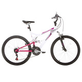 Bicicleta Aro 26 Vivid Branca/rosa - Houston
