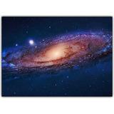 Quadro Decorativo Espaço Galáxia Planeta Terra Lua 6