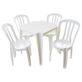 Lote 12 Jogos De Mesas C/48 Cadeiras Sup182kg Brancas Plást