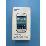 Caixa Vazia Original Samsung Galaxy Fame Grafit