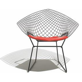 Cadeira Poltrona Bertoia Diamante Em Aço Cromado - Design