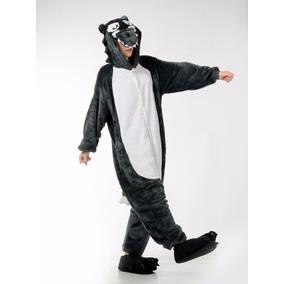 Pijama Tierna Adulto Unisex Cosplay Costume Animal Lobo ccacd9d68abd