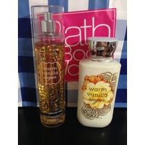 Set Crema Y Body Mist Warm Vanilla Sugar Bath And Body