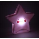 Luminária Estrela Sorriso Rosto Led Importada Rosa