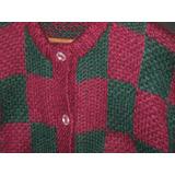 Saco Campera Cardigan Sweater Tejido A Mano Como Nuevo