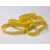 Pulseras De Goma Para Estampado Color Amarillo