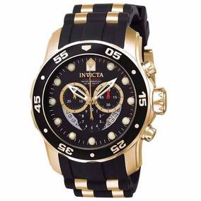 Lindo Relogio Invicta 6981 Pro Diver Promocao Black Gold Top