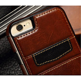 Capa Case Celular Porta Cartão Iphone 6 7 E 6 Plus Couro Top