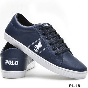 Sapatenis Tenis Masculino Polo Plus Original Couro Eco Promo