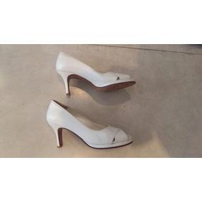 Zapatos Con Taco Blancos