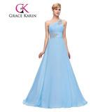 Vestido De Fiesta Noche Boda Dama Grace Karin Azul Claro