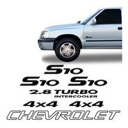 Kit 5 Emblemas/adesivos Chevrolet, S10, 2.8 Turbo Até 2005
