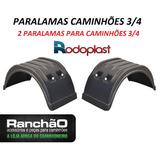 Par Paralama Caminhão 3/4 Plataforma Bau Carroceria Implemen