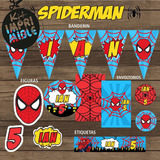 Kit Imprimible Hombre Araña Spiderman Candy Bar