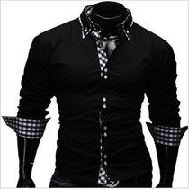 Camisa De Vestir Para Caballeros (corte Ajustado)slim Fit