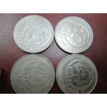 Monedas 20 Pesos Nickel Cultura Maya 1980, 1981, 1982, 1984