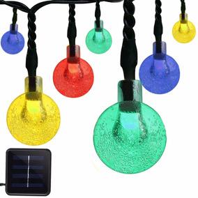 30 Luces Led Solares De Cadena Con Forma De Globo.vmanoo