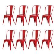 Kit 8 Cadeiras Tolix Iron Industrial Design Várias Cores