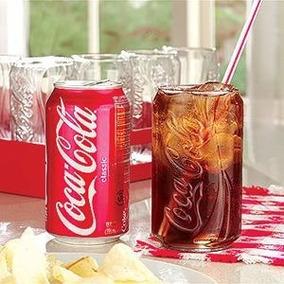 Copo Cisper Coca Cola Latinha Transparente Vidro