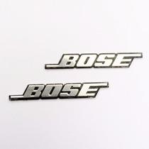 Par 02 Mini Emblema Bose Alumínio Som Automotivo Frete Único