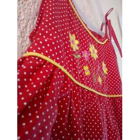 Limpia De Closet Vestido Rojo Para Niña Talla 2