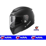 Jm-motors Casco Ls2 Ff390 Single Mono Black Doble Visor