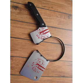 Halloween Disfraz Cuchillo Carnicero Diadema Zombie