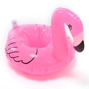 1 Flamingo Porta Vasos Inflable Bebida Flotador