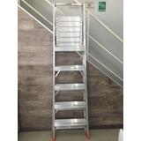 Escalera Plegable De Aluminio Con Plataforma Tauro