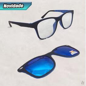 3e3619b095fb0 Óculos P  Grau Clip On 2 Em 1 Armação Super Leve Oferta S026