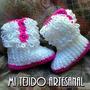 Escarpines Botas Tejidos Al Crochet Para Tu Bebe