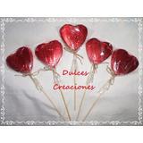 Souvenirs Bombones Paletas Rosas De Chocolate Envueltas
