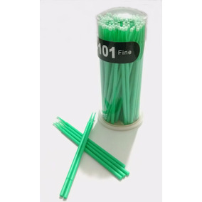 100 Pincéis Aplicador Microbrush Para Remoção De Cílios 2mm