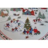 Plato Oriental Japon Christmas Navidad Porcelana Fina Seizan