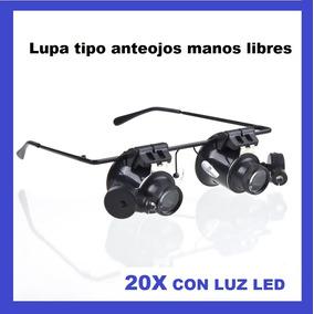 Optovisor Lupa Manos Libres Tipo Anteojos Con Led 20x