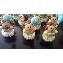 Recuerdo Dulcero Figura Porcelana Fria Baby Shower, Bautizo