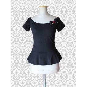 Remera Mujer Pin Up Modal Negro