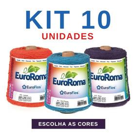 Barbante Euroroma Colorido N° 4 6 8 - Kit 10 Novelos