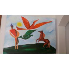 Pintura Em Tela Com Tinta Acrílica! Releitura.artista Rosane