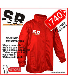 Campera Impermeable Solo Rally #sr