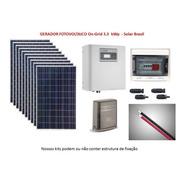 Gerador Placa Solar Conectado À Rede 3,3 Kwp (on Grid Tie)