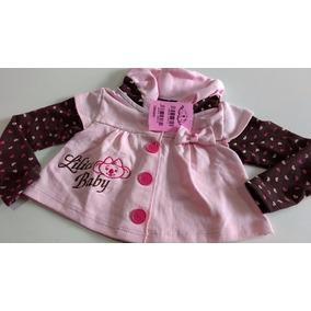 Roupa Bebê Menina Casaquinho Estilo Lilica Ripilica 1 2 3