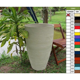 Vaso Planta 80x50 Oval Moderno Polietileno