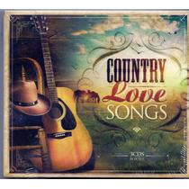 Box Cd Country Love Songs - 3 Cds - Novo***
