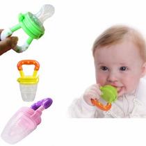 Alimentador Frutas Bico Silicone Bebê Mordedor Carne Chupeta