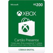 Microsoft Gift Card 200 Reais Cartão Presente Xbox Live Br