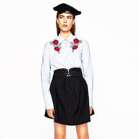 Camisa Mujer Bordada Zara