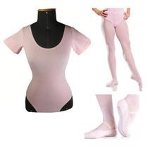 Kit Ballet Infantil Collant+meias+sapatilhas Promoção!!!