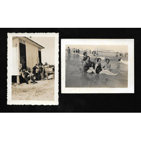 Tramandai- Rs- 2 Fotos Da Praia.1939 .novas.