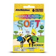 Masa Soft Para Modelar Acrilex X 6 Colores 90 Grs